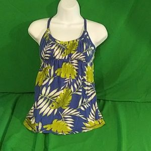 Hollister palm leaves tank top size medium